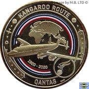 1 Dollar - Elizabeth II (6th Portrait - QANTAS 06 - Global Airline - Super Constellation) -  reverse
