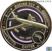 1 Dollar - Elizabeth II (6th Portrait - QANTAS 07 - The Jet Age - Boeing 707) -  reverse