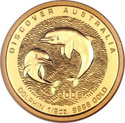 50 Dollars - Elizabeth II (4th Portrait - Dolphins - Gold Bullion Coin) -  reverse