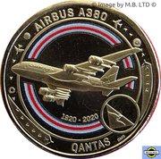 1 Dollar - Elizabeth II (6th Portrait - QANTAS 10 - Meeting the Challenge - Airbus A380) -  reverse