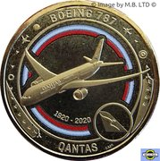 1 Dollar - Elizabeth II (6th Portrait - QANTAS 11 - Flying to the Future - Boeing 787) -  reverse