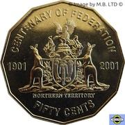 50 Cents - Elizabeth II (4th Portrait - Federation - Northern Territory) -  reverse