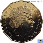 50 Cents - Elizabeth II (4th Portrait - Federation - Western Australia) -  obverse