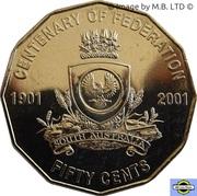 50 Cents - Elizabeth II (4th Portrait - Federation - South Australia) -  reverse