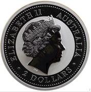 2 Dollars - Elizabeth II (4th portrait - Year of the Dragon - Silver Bullion Coin) -  obverse
