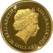 10 Dollars - Elizabeth II (4th Portrait - Year of the Dog - Gold Proof) -  obverse