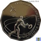 50 Cents - Elizabeth II (4th Portrait - XVIII Commonwealth Games Rugby 7's) – reverse