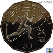 50 Cents - Elizabeth II (4th Portrait - XVIII Commonwealth Games Athletics) -  reverse