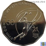 50 Cents - Elizabeth II (4th Portrait - XVIII Commonwealth Games Badminton) -  reverse