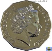 50 Cents - Elizabeth II (4th Portrait - Diamond Wedding Anniversary) -  obverse
