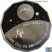 50 Cents - Elizabeth II (4th Portrait - 40th Anniversary of Moon Landing) – reverse