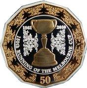 50 Cents - Elizabeth II (4th Portrait - Melbourne Cup 150 Years) -  reverse