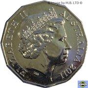 50 Cents - Elizabeth II (4th Portrait - 50 Years of Triple Zero) -  obverse