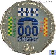 50 Cents - Elizabeth II (4th Portrait - 50 Years of Triple Zero) -  reverse