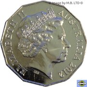 50 Cents - Elizabeth II (4th portrait - COA Colourised Set Issue) -  obverse