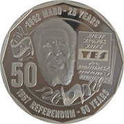 50 Cents - Elizabeth II (4th Portrait - Pride and Passion) -  reverse