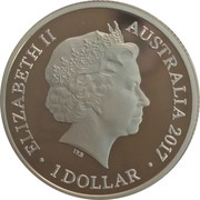 1 Dollar - Elizabeth II (4th Portrait - Trans-Australian Railway, Silver Proof) -  obverse