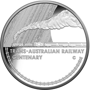 1 Dollar - Elizabeth II (4th Portrait - Trans-Australian Railway, Silver Proof) -  reverse