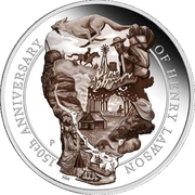 8 Dollars - Elizabeth II (4th Portrait - Henry Lawson -150 Years - Silver Proof) -  reverse