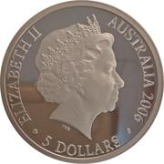 5 Dollars - Elizabeth II (4th Portrait - Melbourne City of Sport, Silver Proof) -  obverse