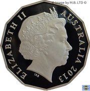 50 Cents - Elizabeth II (4th Portrait - Firstborn Baby of the Duke and Duchess of Cambridge; Silver Proof) -  obverse