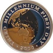 20 Dollars - Elizabeth II (4th Portrait - Third Millennium First Day) -  reverse