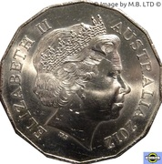 50 Cents - Elizabeth II (4th Portrait - Year of the Dragon) – obverse