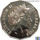50 Cents - Elizabeth II (4th Portrait - 50 years of Bathurst Race) – obverse