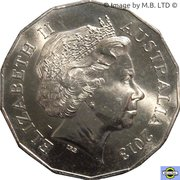 50 Cents - Elizabeth II (4th Portrait - Year of the Snake) – obverse
