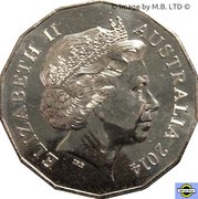 50 Cents - Elizabeth II (4th Portrait - Year of the Horse) – obverse