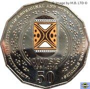 50 Cents - Elizabeth II (4th Portrait - AIATSIS - Colourised) -  reverse