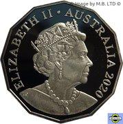 50 Cents - Elizabeth II (6th portrait - Possum Magic - Colourised - Proof) -  obverse