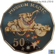 50 Cents - Elizabeth II (6th portrait - Possum Magic - Colourised - Proof) -  reverse