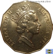 50 Cents - Elizabeth II (3rd Portrait - Decimal Currency) -  obverse