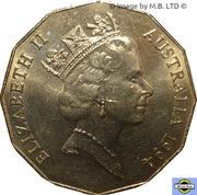 50 Cents - Elizabeth II (3rd Portrait - Year of the Family) -  obverse