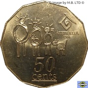 50 Cents - Elizabeth II (3rd Portrait - Year of the Family) -  reverse