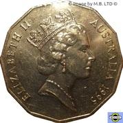 """50 Cents - Elizabeth II (3rd Portrait - Edward """"Weary"""" Dunlop) -  obverse"""