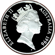 10 Dollars - Elizabeth II (3rd Portrait - Southern Right Whale - Piedfort) -  obverse