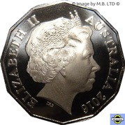 50 Cents - Elizabeth II (4th Portrait - 50th Anniversary of Play School, Jemima) -  obverse