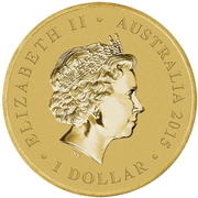 1 Dollar - Elizabeth II (4th Portrait - Longest Reigning Monarch) -  obverse