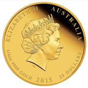 25 Dollars - Elizabeth II (4th Portrait - HRH Princess Charlotte - Gold Proof) -  obverse