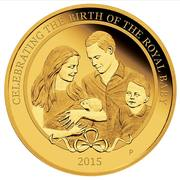 25 Dollars - Elizabeth II (4th Portrait - HRH Princess Charlotte - Gold Proof) -  reverse