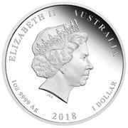 1 Dollar - Elizabeth II (4th Portrait - Royal Wedding 2018 - Silver Proof) -  obverse