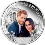 1 Dollar - Elizabeth II (4th Portrait - Royal Wedding 2018 - Silver Proof) -  reverse