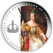 1 Dollar - Elizabeth II (4th Portrait - Queen Victoria 175th Anniversary of Coronation) -  reverse