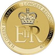1 Dollar - Elizabeth II (4th Portrait - Longest Reigning Monarch) -  reverse