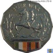 50 Cents - Elizabeth II (4th Portrait - Australians at War 01 - Boer War) -  reverse