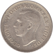 "1 Florin - George VI (without ""IND:IMP"") – obverse"