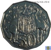50 Cents - Elizabeth II (4th Portrait) -  reverse