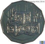 50 Cents - Elizabeth II (4th Portrait - Royal Baby) -  reverse